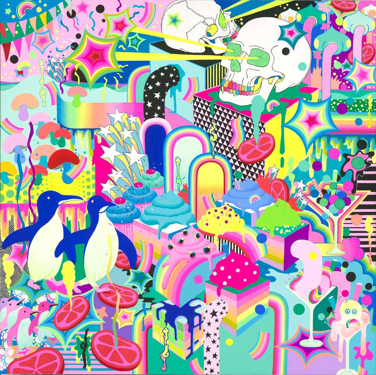 """""""Psycho Pop Party"""" by Adehla Lee will be displayed at Superfrico, which opens alongside """"Opium"""" ..."""