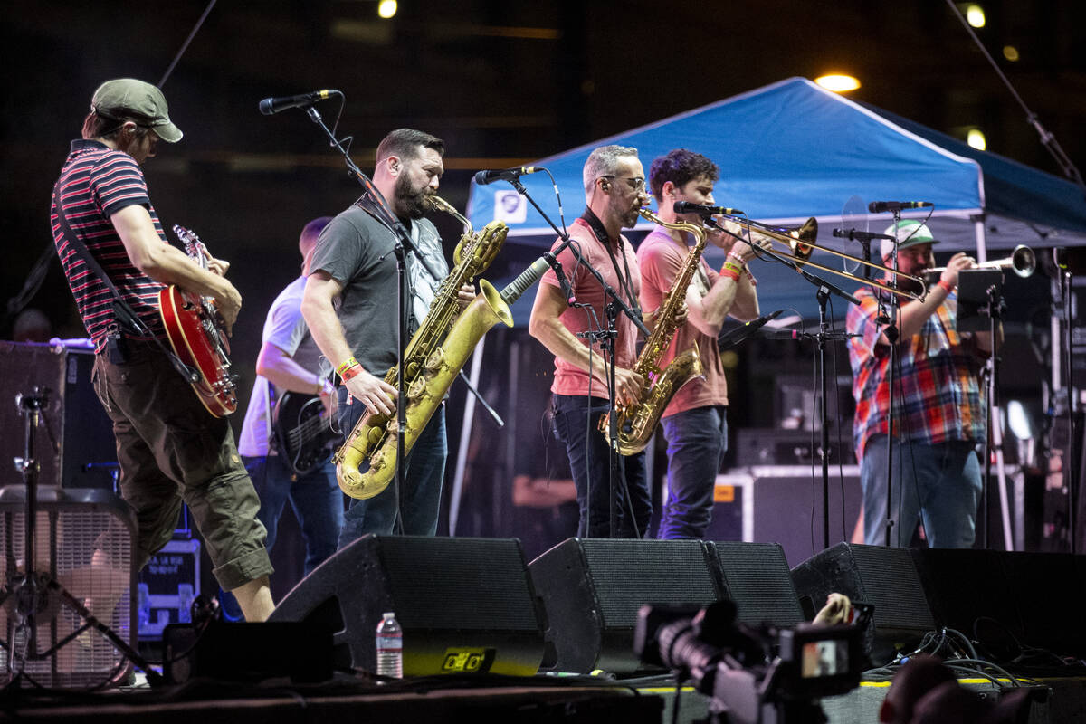 Streetlight Manifesto performs during the Punk Rock Bowling Music Festival at the Downtown Las ...