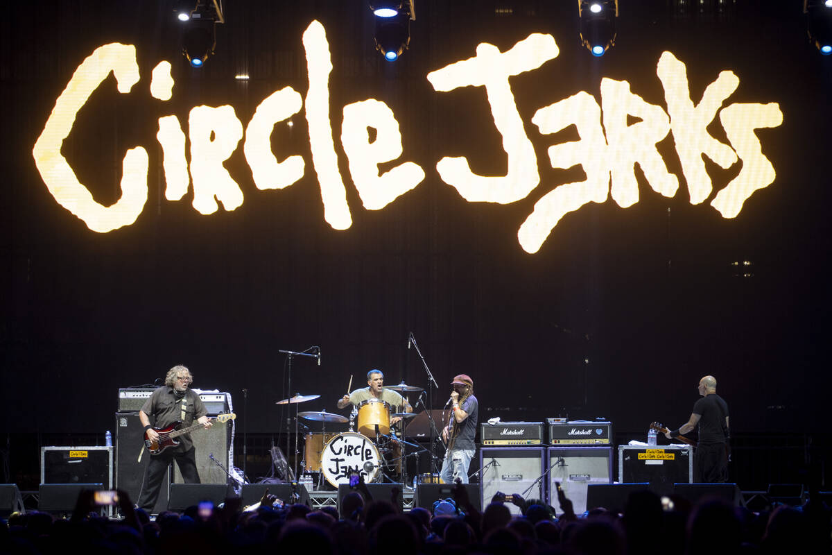 Circle Jerks performs during the Punk Rock Bowling Music Festival at the Downtown Las Vegas Eve ...