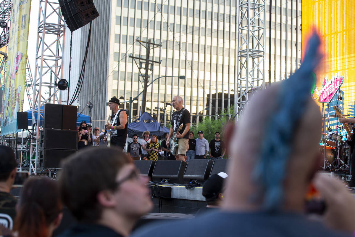 Youth Brigade performs during the Punk Rock Bowling Music Festival at the Downtown Las Vegas Ev ...