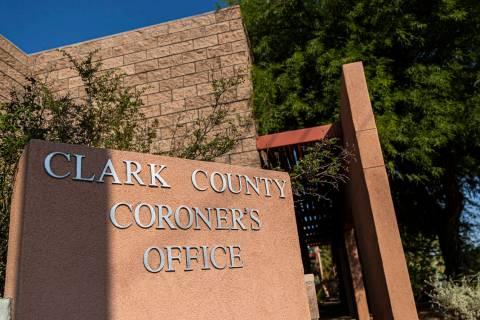 The Clark County Coroner's office on Monday, Sept. 27, 2021, in Las Vegas. (Benjamin Hag ...