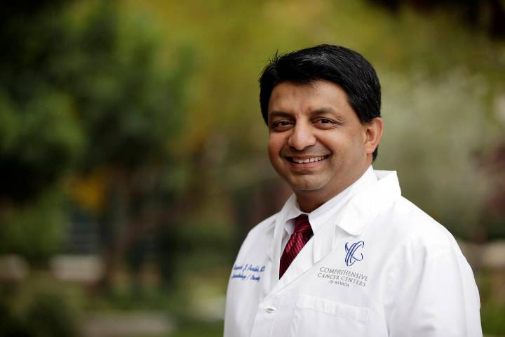 Rupesh Parikh, M.D., practice president for Comprehensive Cancer Centers, encourages women to s ...
