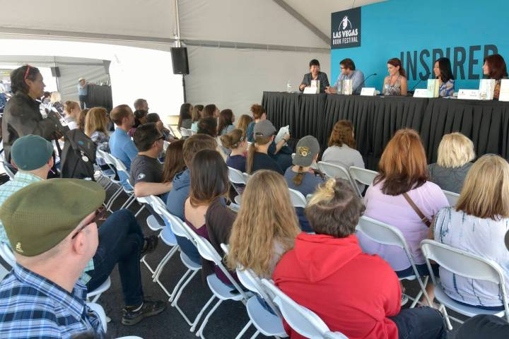 """A """"Middle Matters: Middle Grade Stories for Everyone"""" panel discussion is shown during the ..."""