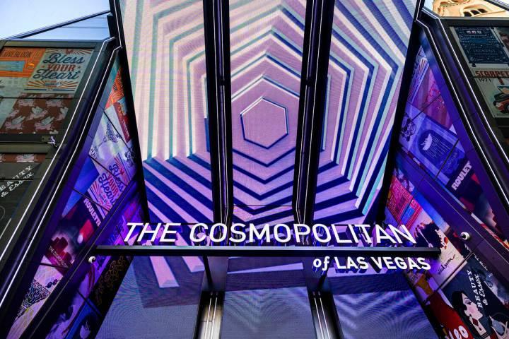 The Cosmopolitan of Las Vegas on Monday, Sept. 27, 2021, in Las Vegas. (Benjamin Hager/Las Vega ...