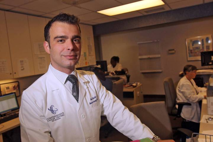 Dr. Fadi Braiteh of the Comprehensive Cancer Centers of Nevada emphasizes the importance of ear ...