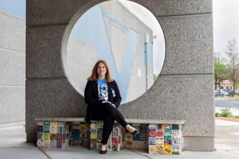 Jennifer Reynolds, principal of Charlotte Hill Elementary School, sits for a portrait outside t ...