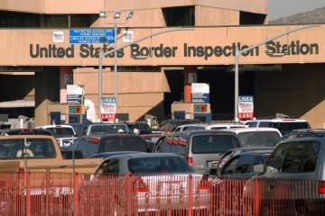 Cars enter the U.S. from Tijuana, Mexico, at the San Ysidro Port of Entry in 2002. (AP Photo/De ...