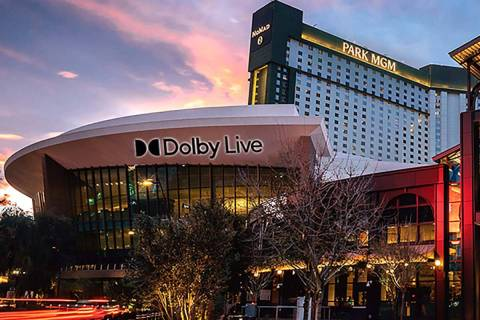 A rendering of Dolby Live, the new name for Park Theater at Park MGM. (MGM Resorts International)