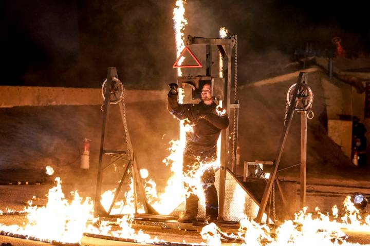"""Jonathan Goodwin is shown during the live quarterfinals of """"America's Got Talent"""" on Tuesday, A ..."""