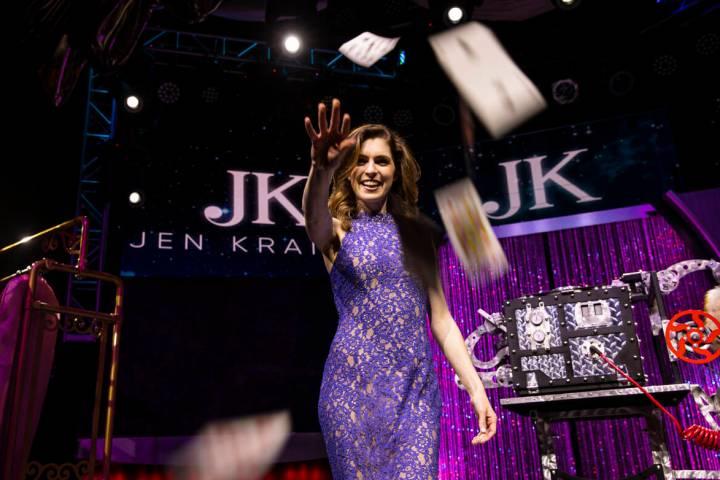 "Magician Jen Kramer, who headlines in ""The Magic of Jen Kramer"" at the Westgate, pose ..."