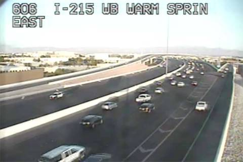 Eastbound 215 Beltway was closed from state Route 171 to Warm Springs while police investigated ...