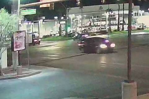 An still image of the vehicle police are looking for in relation to a hit-and-run collision on ...