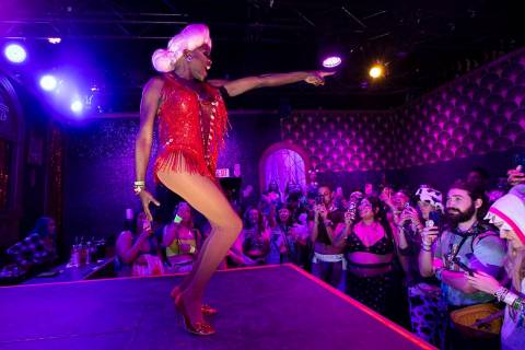 Coco Montrese performs at the Queen Bar during the final day of the Electric Daisy Carnival at ...