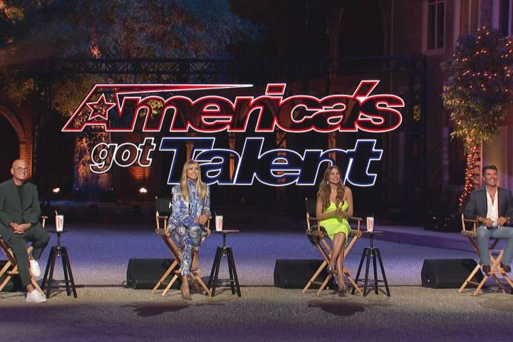 "Howie Mandel (from left), Heidi Klum, Sofia Vergara and Simon Cowell of ""America's Got Tale ..."
