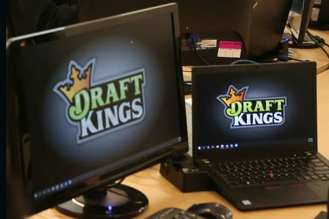 This Jan. 15, 2020, file photo shows the DraftKings offices at Town Square in Las Vegas. (Erik ...