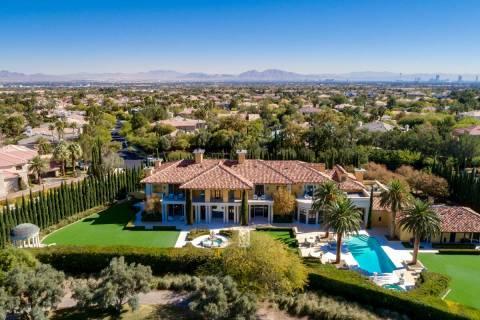 Billionaire Steve Wynn's mansion in Las Vegas' Summerlin community, seen in this photo provided ...